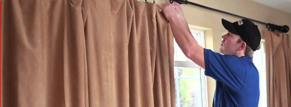 Curtain Cleaning at site